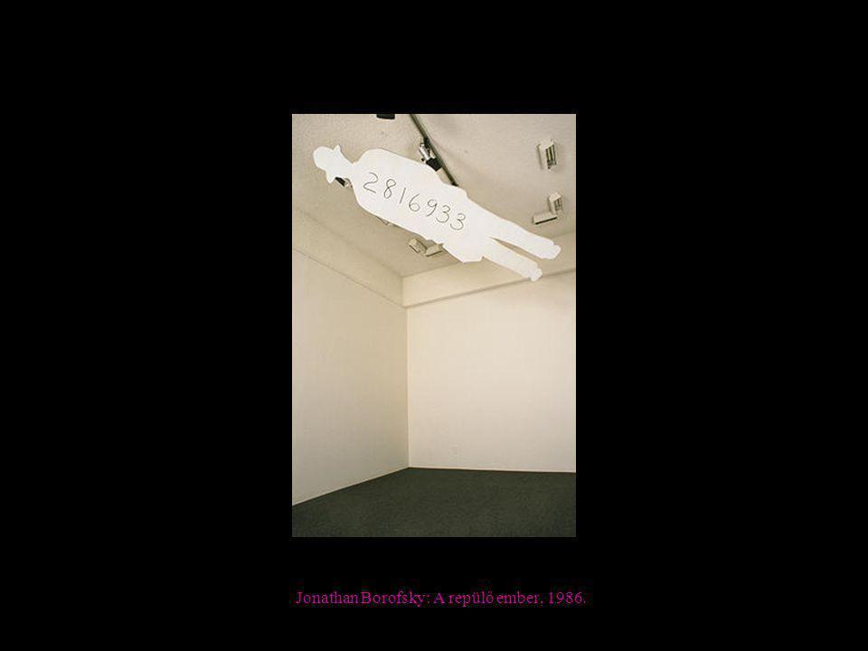Jonathan Borofsky: A repülő ember, 1986.
