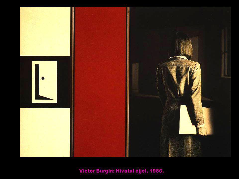 Victor Burgin: Hivatal éjjel, 1986.