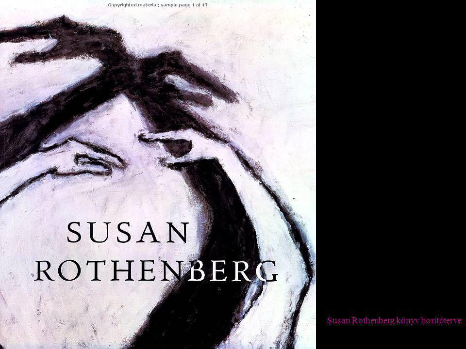 Susan Rothenberg könyv borítóterve