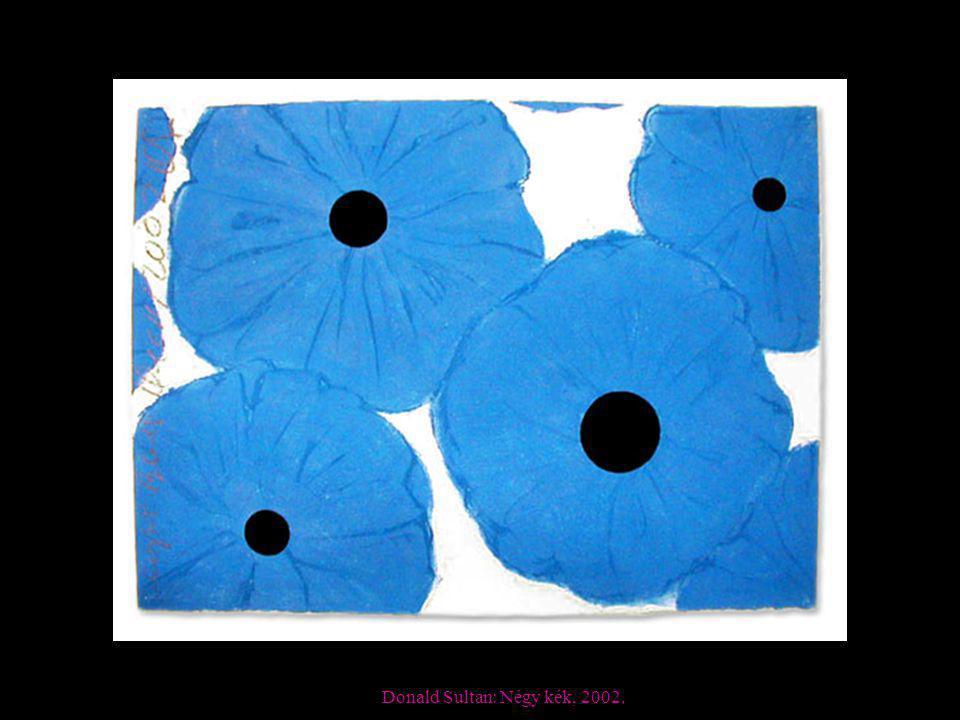 Donald Sultan: Négy kék, 2002.