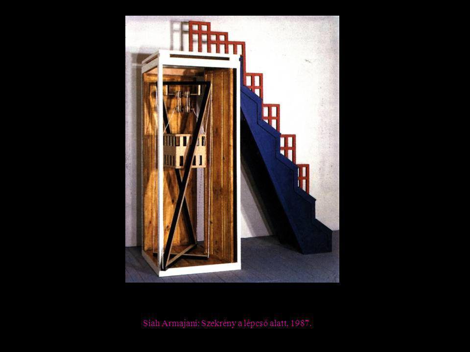 Siah Armajani: Szekrény a lépcső alatt, 1987.
