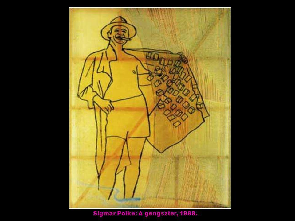 Sigmar Polke: A gengszter, 1988.