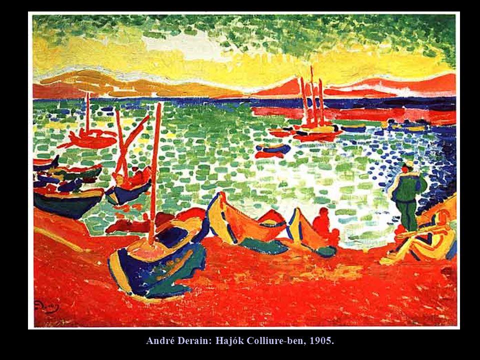 André Derain: Hajók Colliure-ben, 1905.