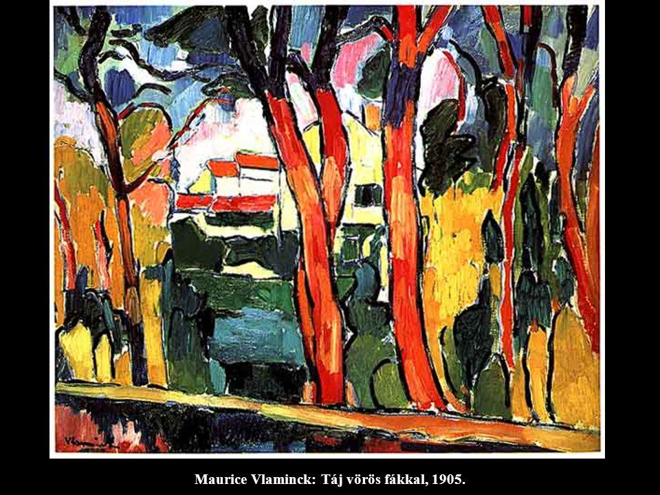Maurice Vlaminck: Táj vörös fákkal, 1905.