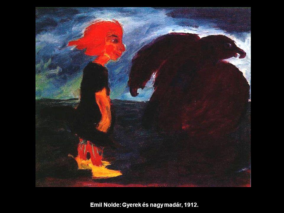 Emil Nolde: Gyerek és nagy madár, 1912.