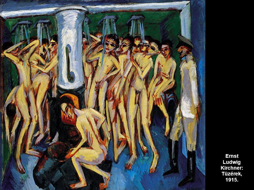 Ernst Ludwig Kirchner: Tüzérek, 1915.
