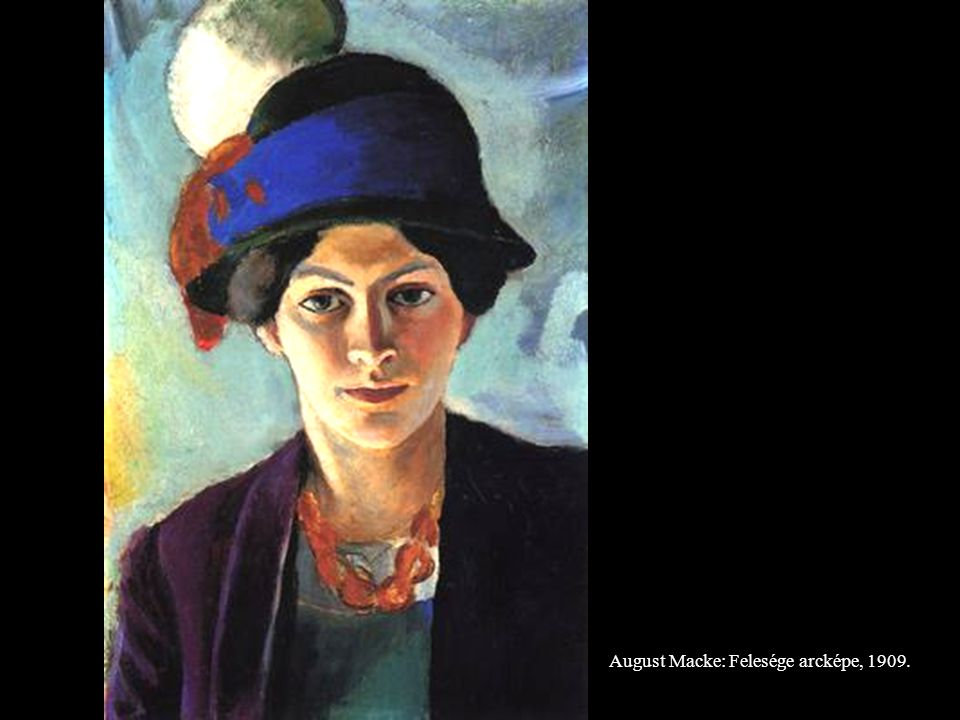August Macke: Felesége arcképe, 1909.