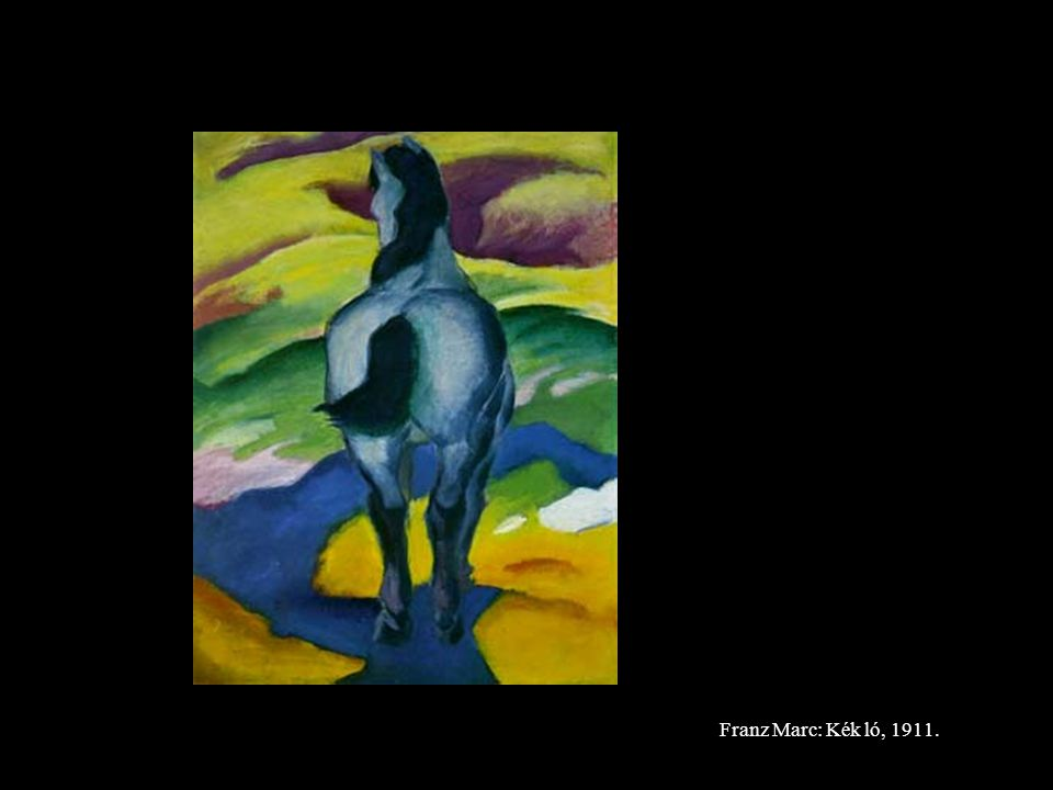 Franz Marc: Kék ló, 1911.