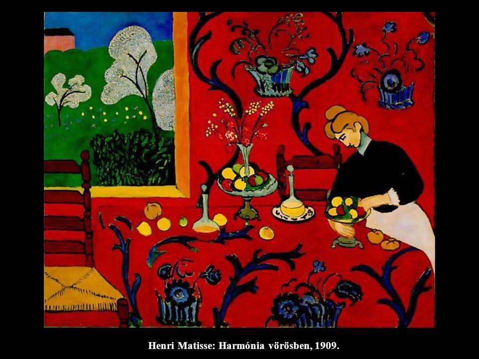 Henri Matisse: Harmónia vörösben, 1909.