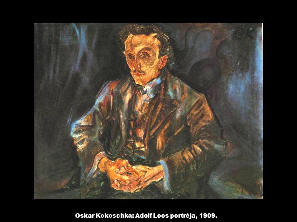 Oskar Kokoschka: Adolf Loos portréja, 1909.