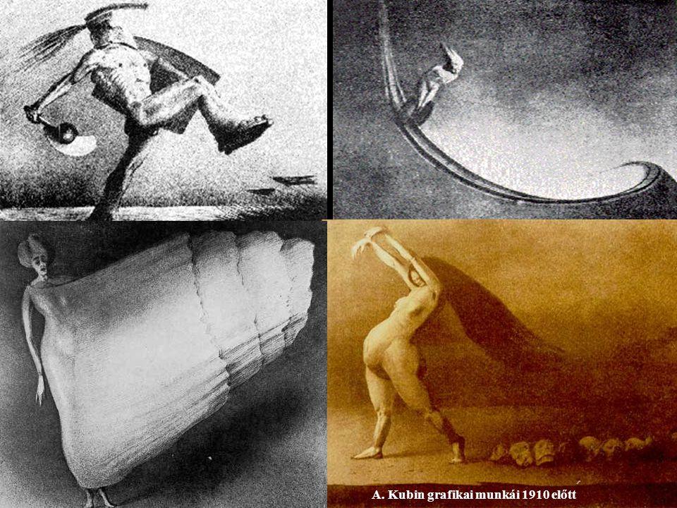 A. Kubin grafikai munkái 1910 előtt