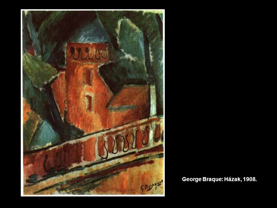 George Braque: Házak, 1908.