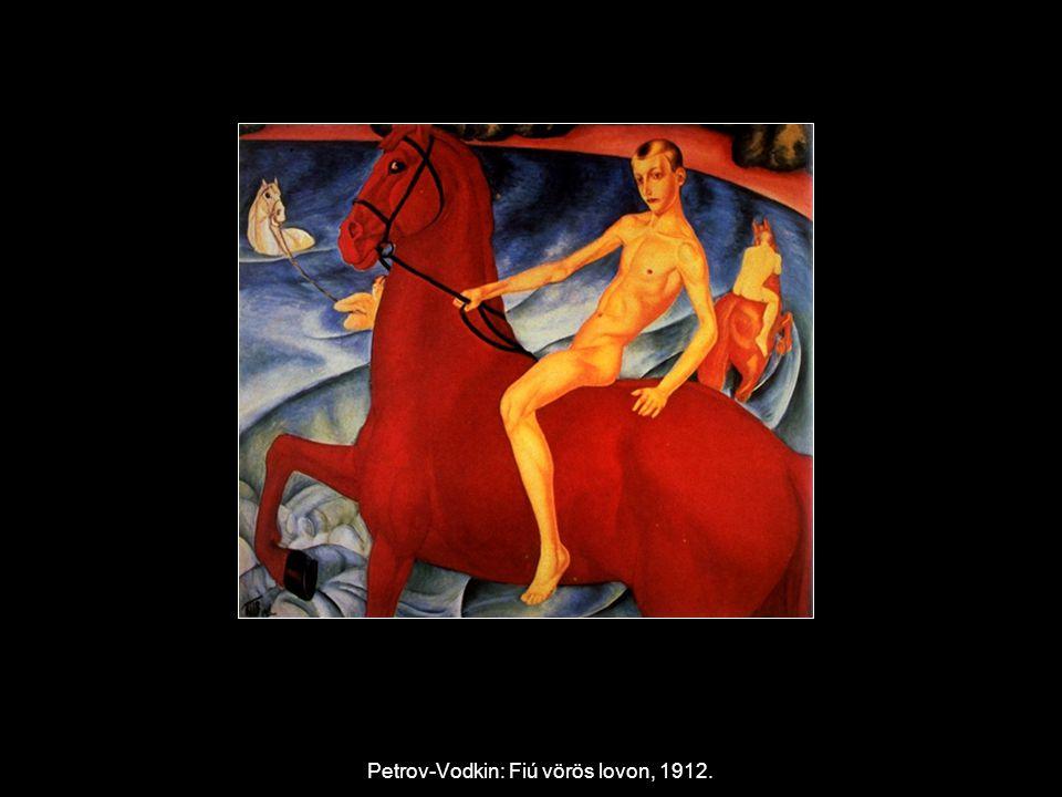 Petrov-Vodkin: Fiú vörös lovon, 1912.
