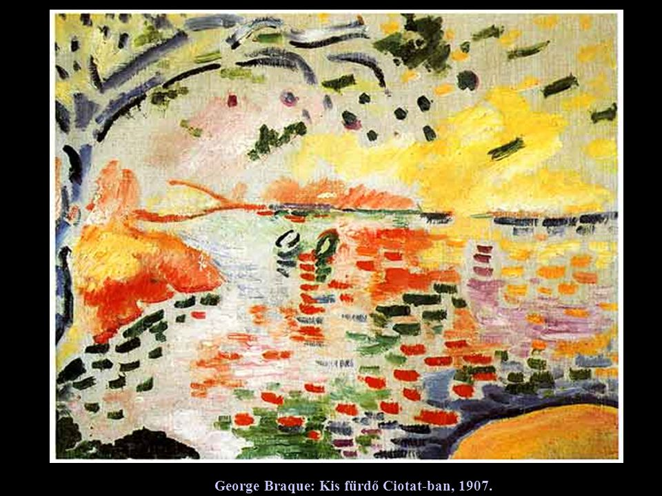 George Braque: Kis fürdő Ciotat-ban, 1907.