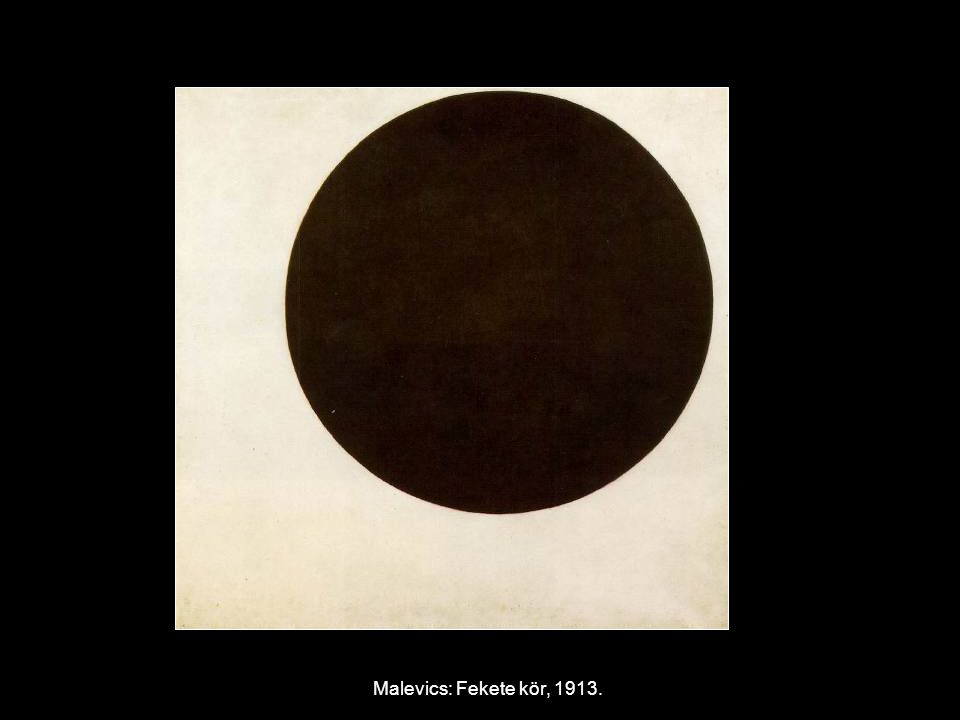 Malevics: Fekete kör, 1913.