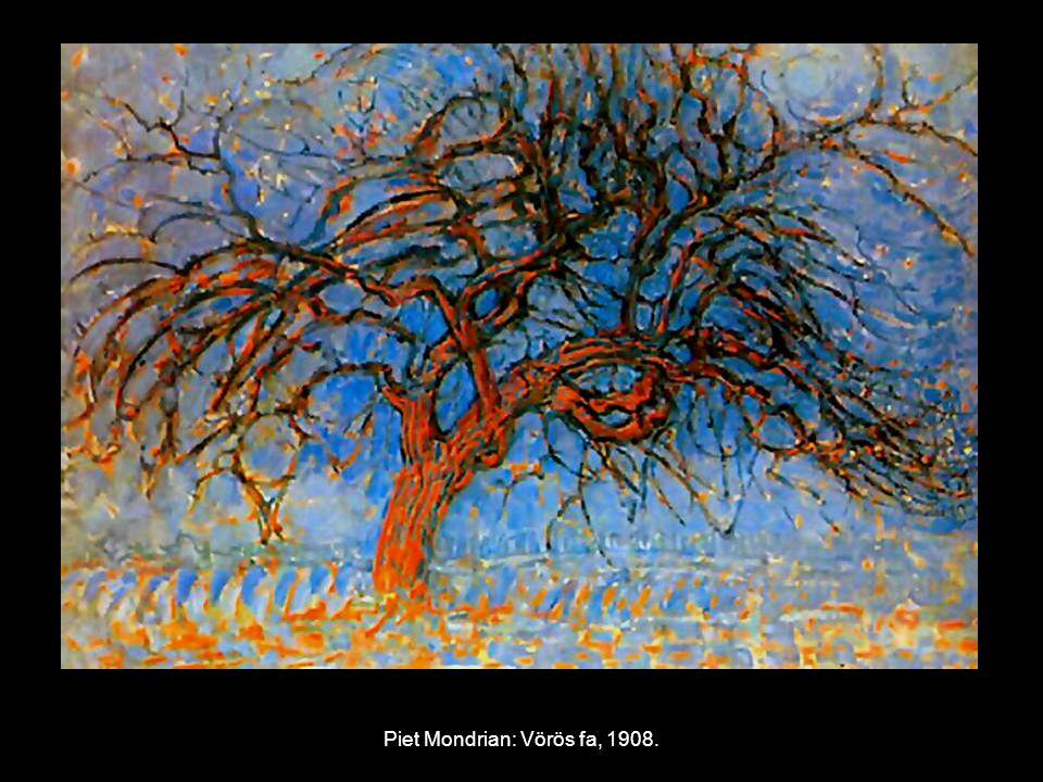 Piet Mondrian: Vörös fa, 1908.