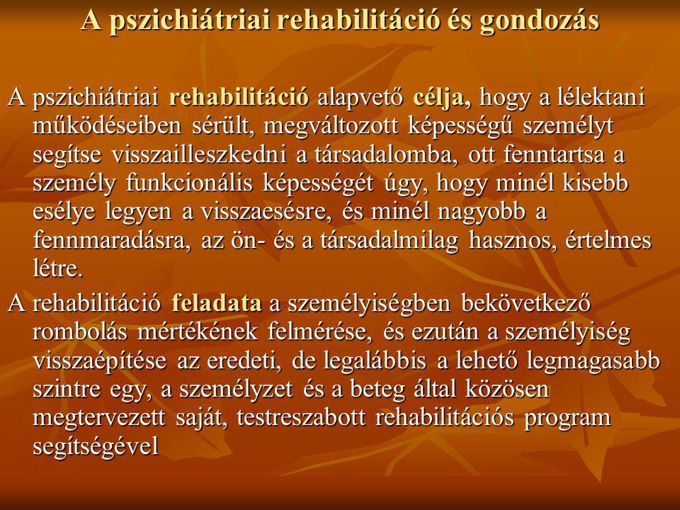 A pszichiátriai rehabilitáció és gondozás