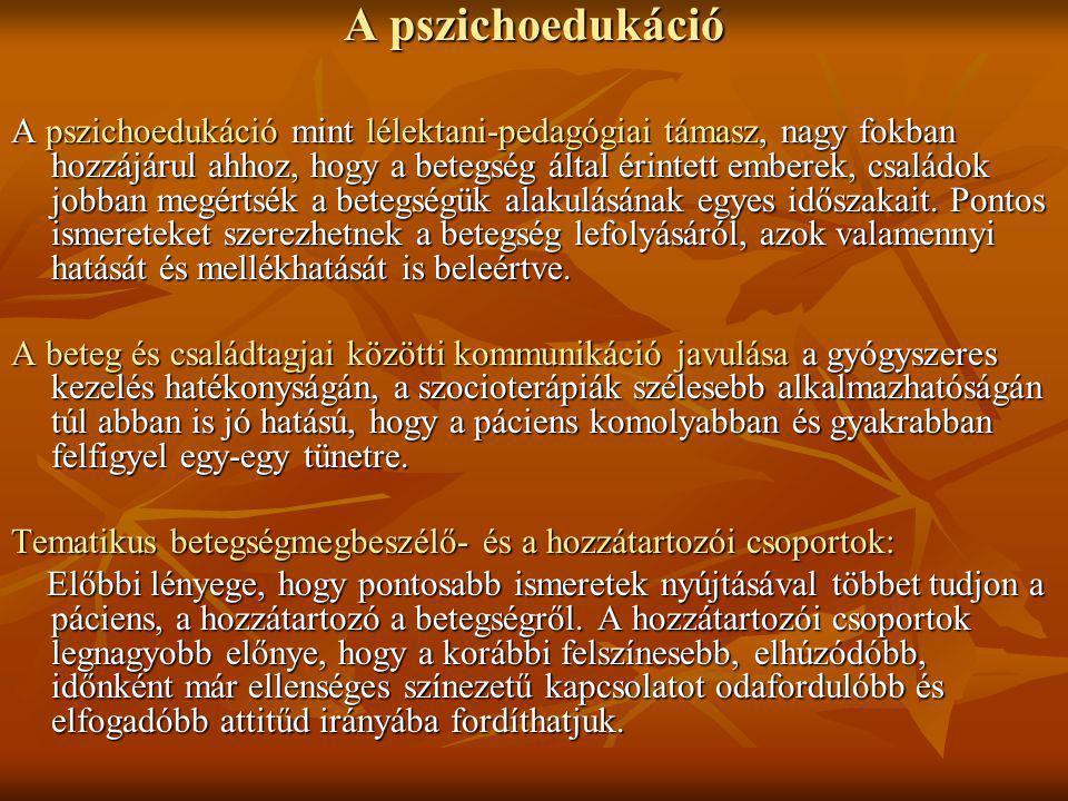 A pszichoedukáció