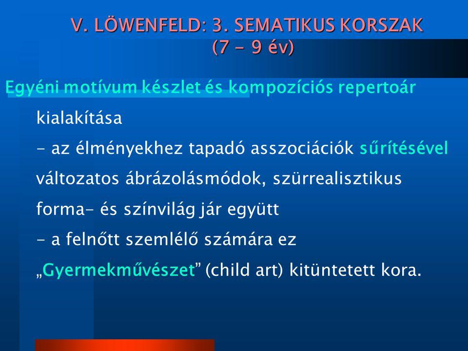 V. LÖWENFELD: 3. SEMATIKUS KORSZAK (7 - 9 év)