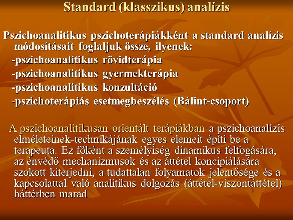 Standard (klasszikus) analízis