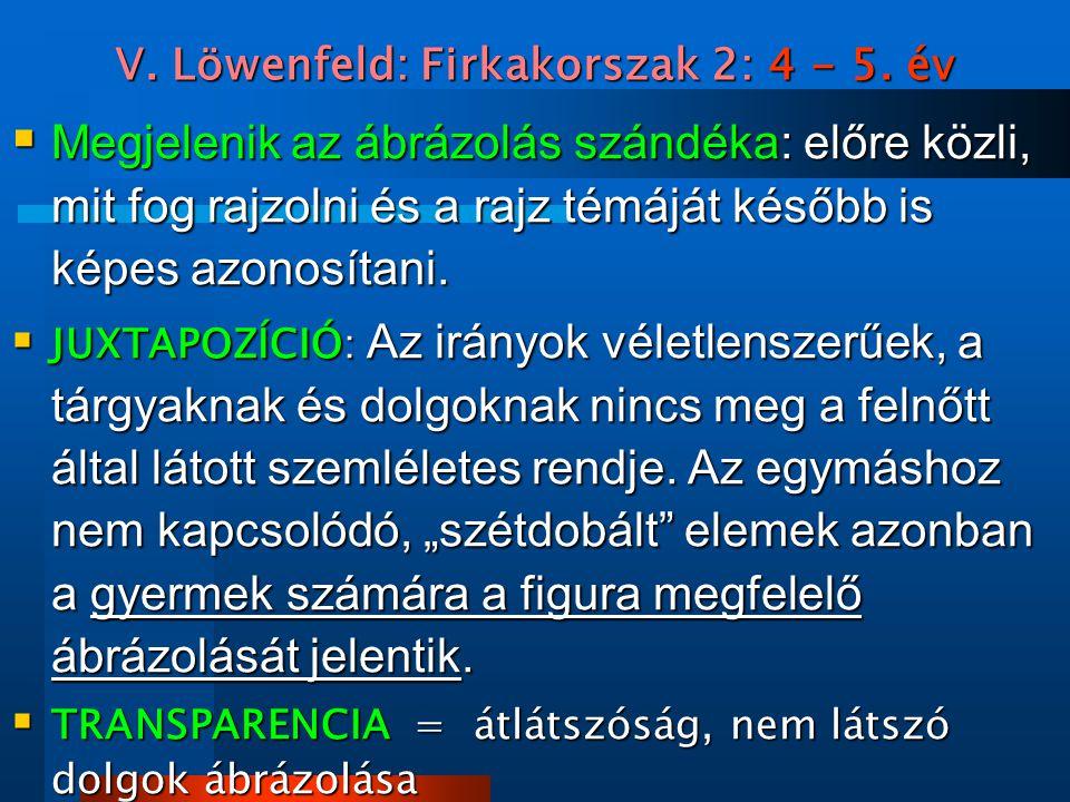 V. Löwenfeld: Firkakorszak 2: 4 - 5. év