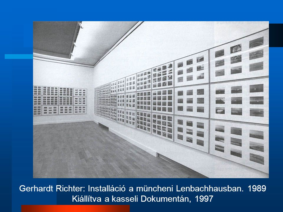 Gerhardt Richter: Installáció a müncheni Lenbachhausban