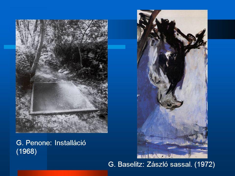 G. Penone: Installáció (1968)