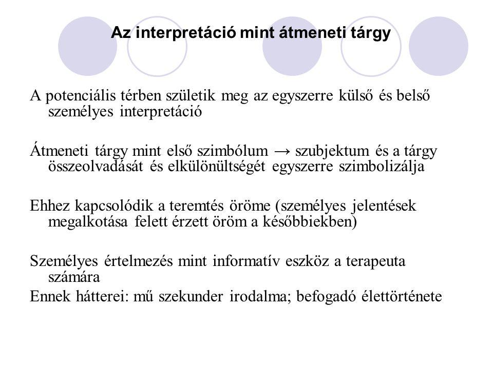 Az interpretáció mint átmeneti tárgy