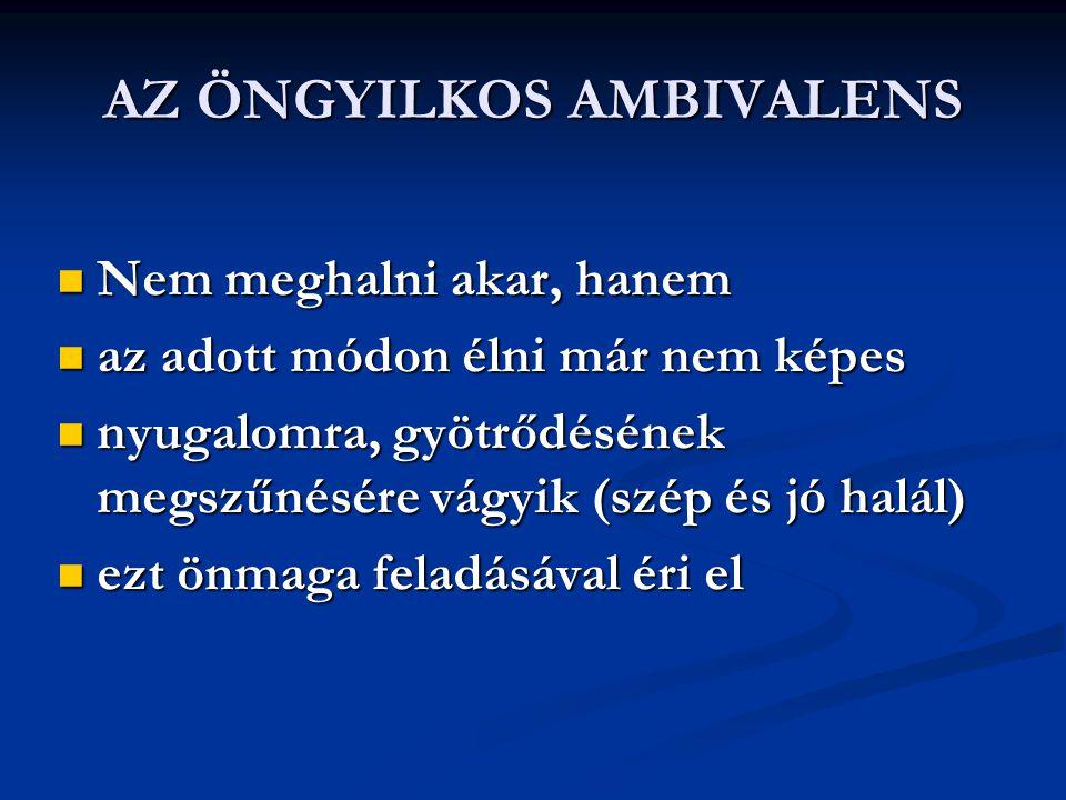 AZ ÖNGYILKOS AMBIVALENS