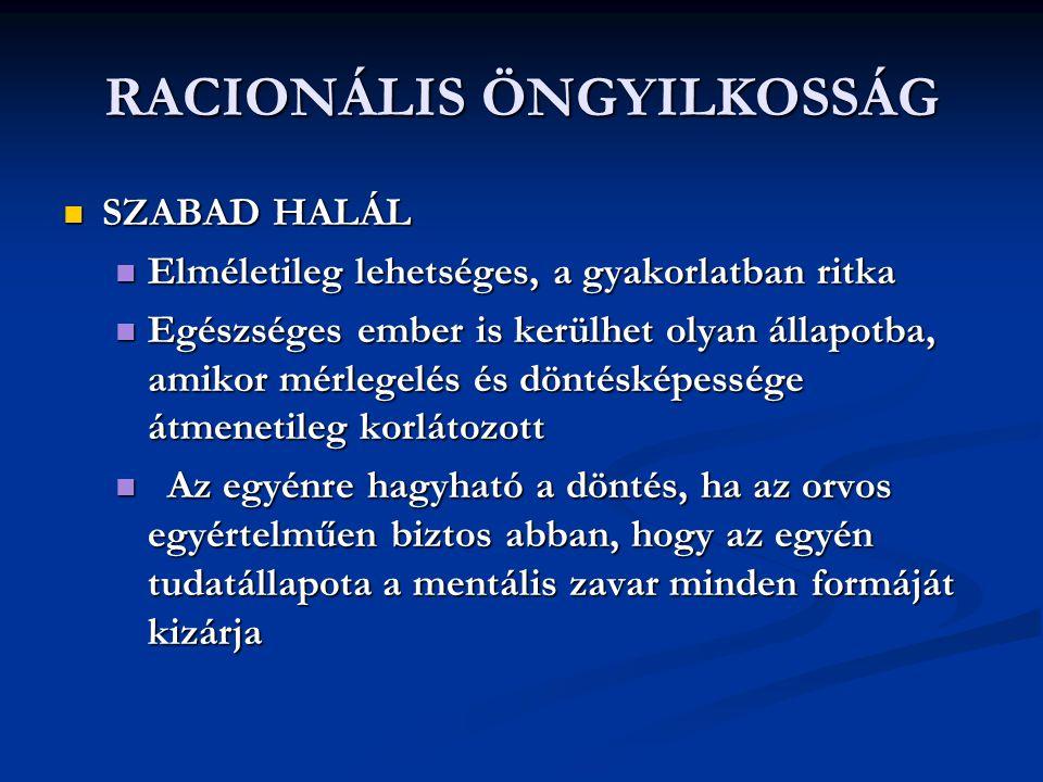 RACIONÁLIS ÖNGYILKOSSÁG