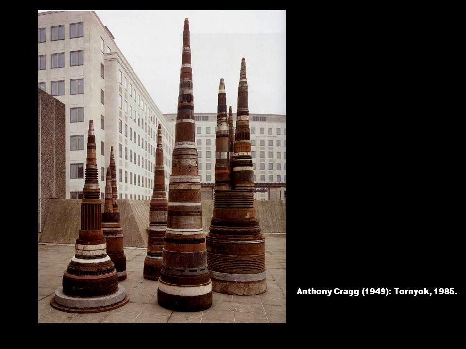 Anthony Cragg (1949): Tornyok, 1985.