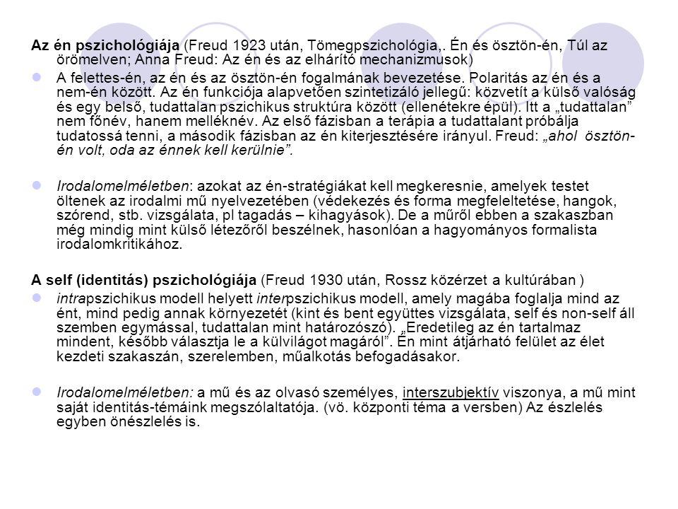 Az én pszichológiája (Freud 1923 után, Tömegpszichológia,
