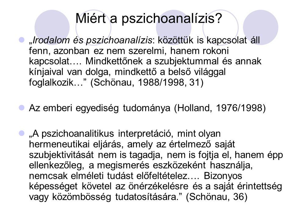 Miért a pszichoanalízis