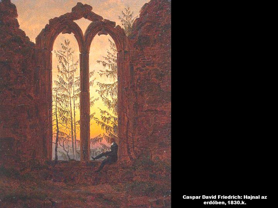 Caspar David Friedrich: Hajnal az erdőben, 1830.k.