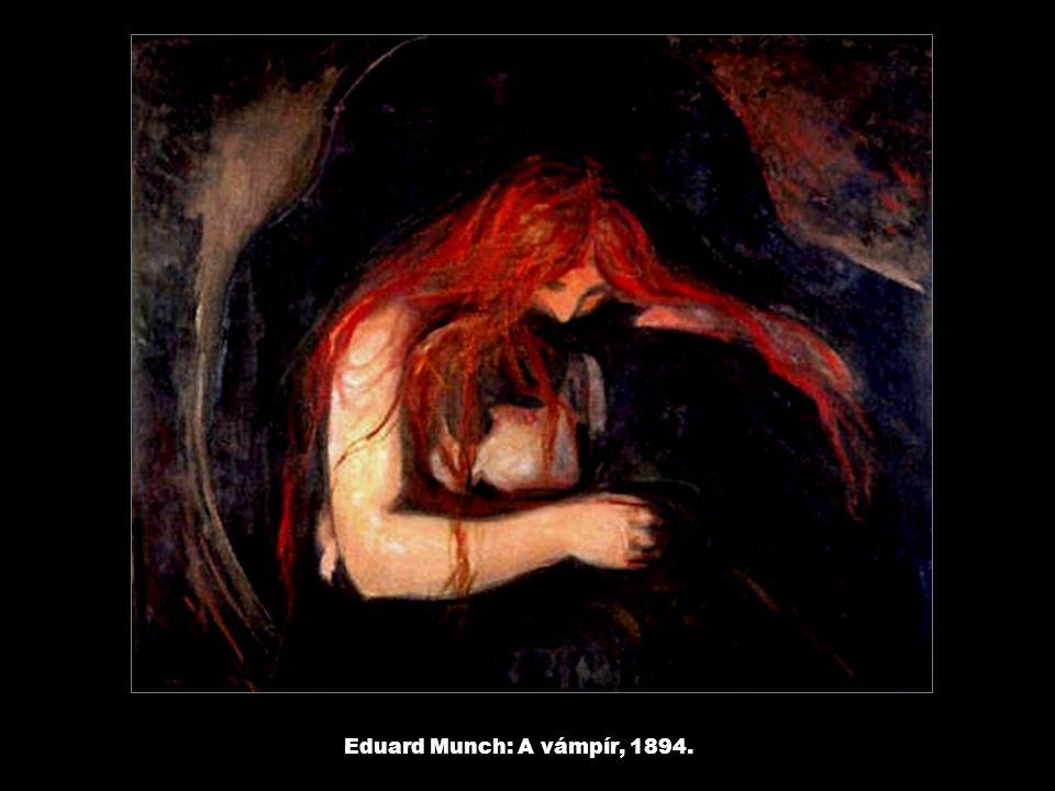 Eduard Munch: A vámpír, 1894.