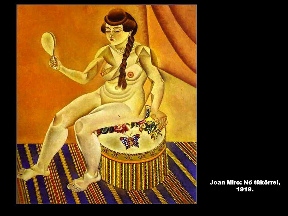 Joan Miro: Nő tükörrel, 1919.