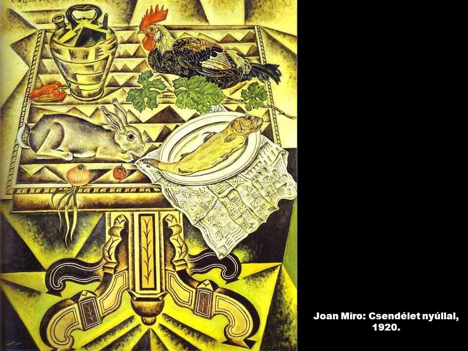 Joan Miro: Csendélet nyúllal, 1920.