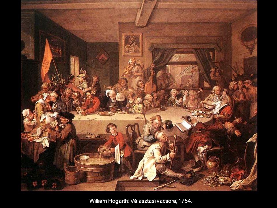 William Hogarth: Választási vacsora, 1754.