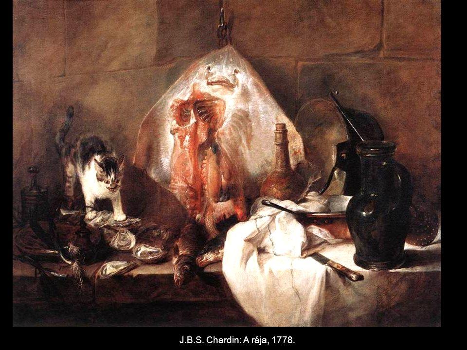 J.B.S. Chardin: A rája, 1778.