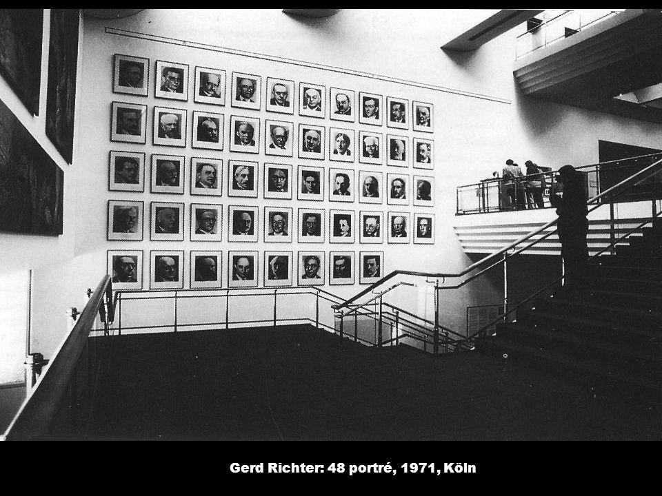 Gerd Richter: 48 portré, 1971, Köln