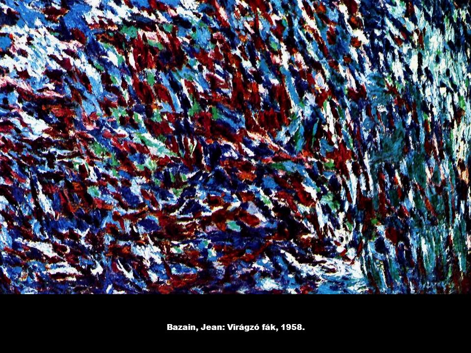 Bazain, Jean: Virágzó fák, 1958.