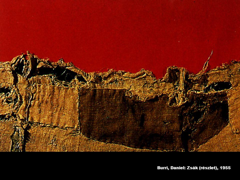 Burri, Daniel: Zsák (részlet), 1955