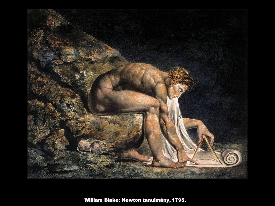 William Blake: Newton tanulmány, 1795.