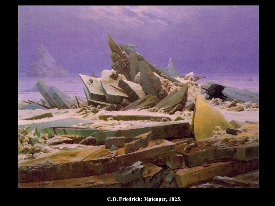 C.D. Friedrich: Jégtenger, 1825.
