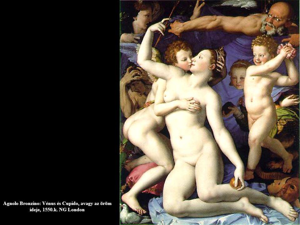 Agnolo Bronzino: Vénus és Cupido, avagy az öröm ideje, 1550. k