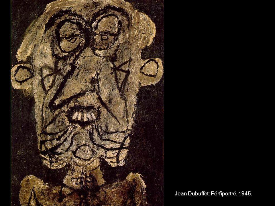 Jean Dubuffet: Férfiportré, 1945.