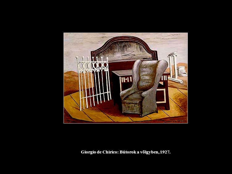 Giorgio de Chirico: Bútorok a völgyben, 1927.