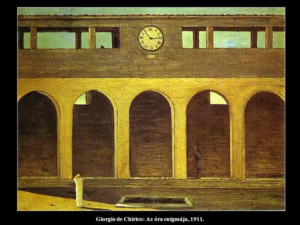 Giorgio de Chirico: Az óra enigmája, 1911.