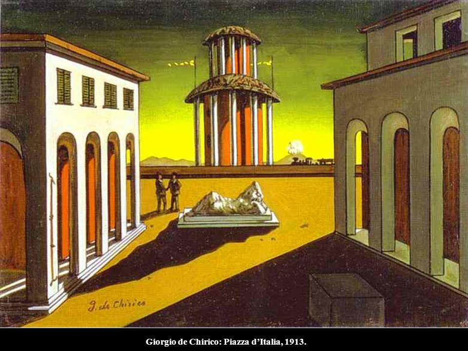 Giorgio de Chirico: Piazza d'Italia, 1913.