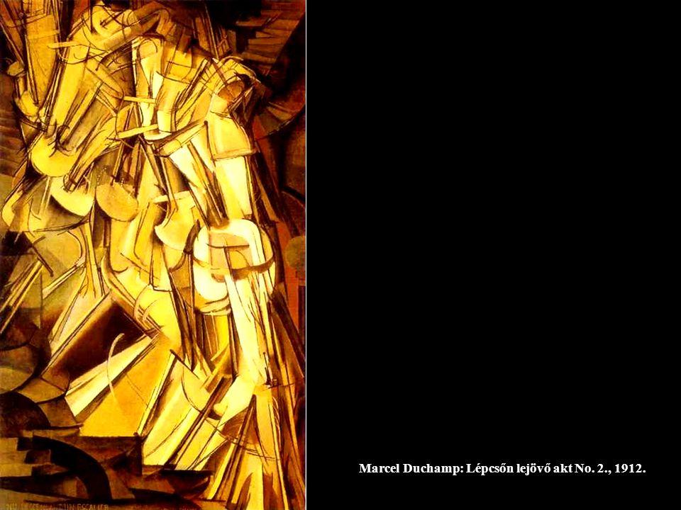 Marcel Duchamp: Lépcsőn lejövő akt No. 2., 1912.